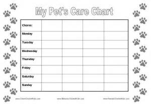 reward charts for pet care