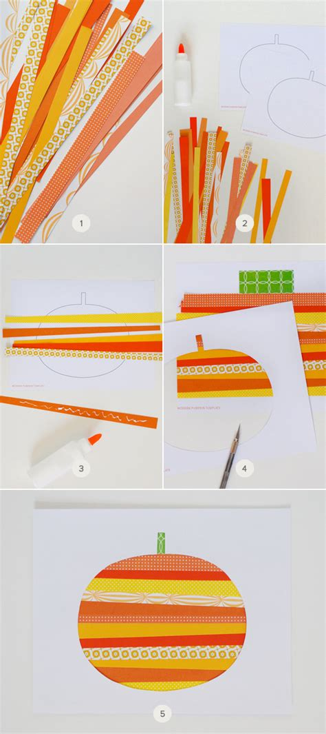 craft with paper strips paper pumpkin julep