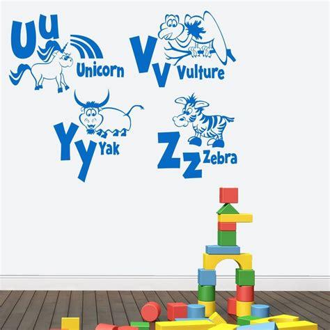 animal alphabet wall stickers animal alphabet wall sticker by mirrorin notonthehighstreet