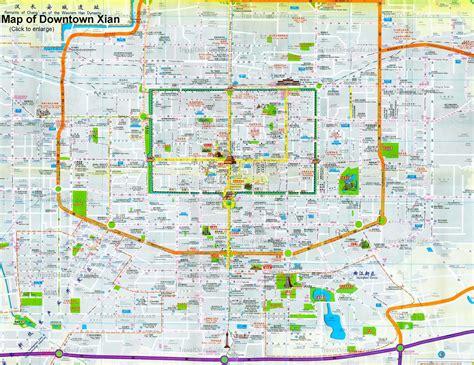 xian tourist map xian mappery