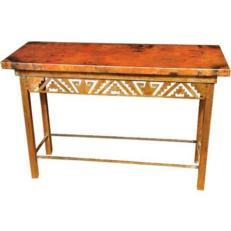 copper sofa table copper collection petroglyph console table con 52