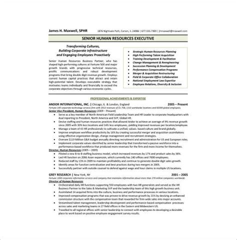 hr executive resume format pdf 11 one page writing sles and templates pdf sle templates