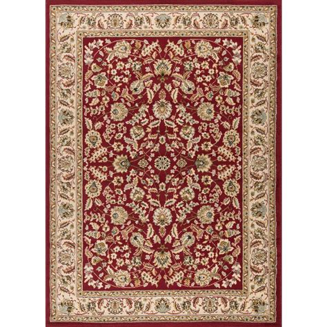 Tayse Rugs Laguna Red 9 Ft 3 In X 12 Ft 6 In Indoor 6 X 12 Area Rug