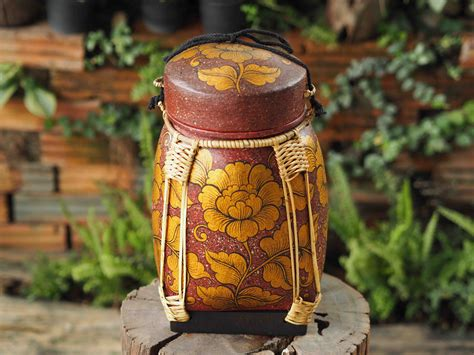 Handmade Thailand - handmade decorative thai rice container siam sawadee