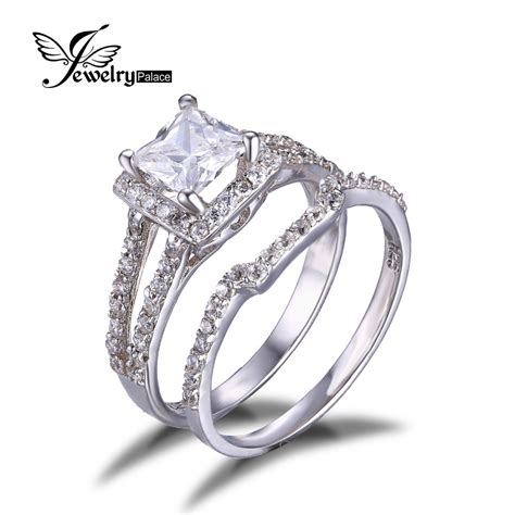 jewelrypalace 925 sterling silver princess cut 2ct cubic
