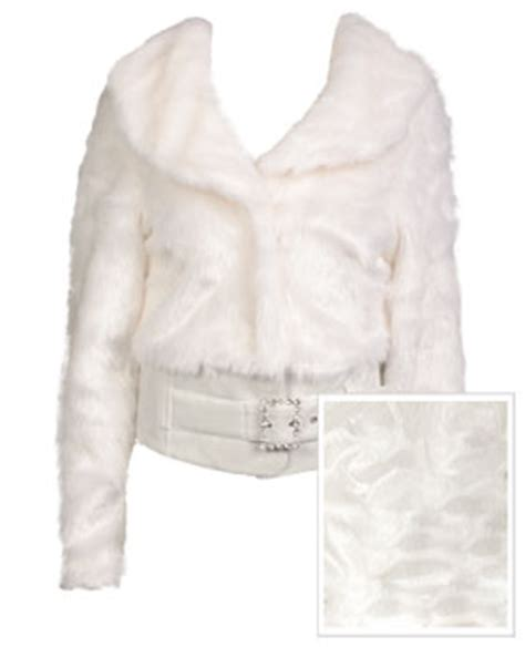 Jaket Seal Kanji White seal faux fur buckle belt jacket whitejpg picture to pin on thepinsta