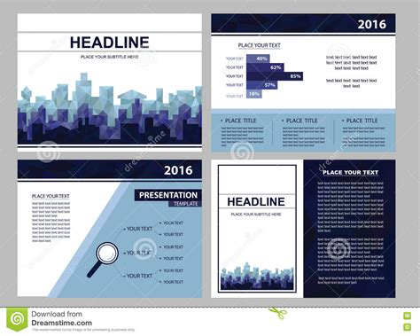 seminar ppt layout layout for business or seminar presentation stock vector