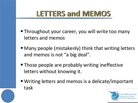 Business Letters And Memos Ppt presentation on taking notes writing letters and memo