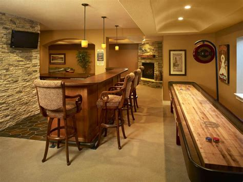 Basement Bar Design Ideas Yellow Accents Wall Painted Of Enchanting Home Basement Bar Ideas With Pleasant Bar Table