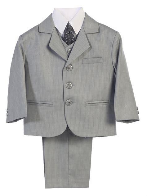 light grey 3 piece suit boys light gray 3 button 5 piece suit