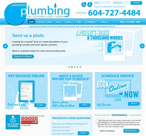 Aj Plumbing And Heating by 100 Plumbing Websites For Design Inspiration