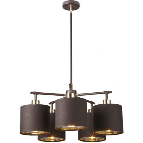Brown Ceiling Light Shades Contemporary Brown Ceiling Light With Gold Lined Chocolate Shades