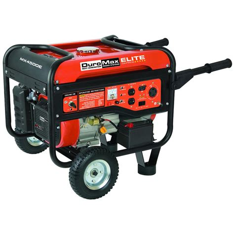 duromax 174 mx4500e electric start 4 500 watt portable gas