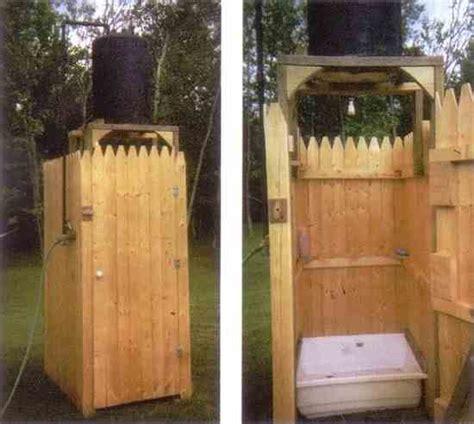 diy outdoor bathroom country lore outdoor solar shower diy mother earth news