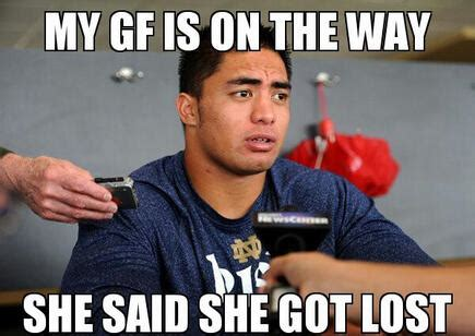 Manti Te O Meme - collin klein kc college gameday