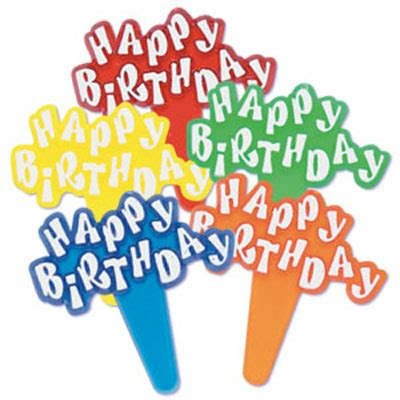 Kuas Details By Happy Bakers bakery crafts happy birthday bouncy letters cupcake picks