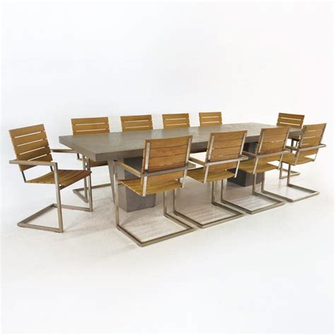 concrete table and bench set design warehouse concrete table and chairs set