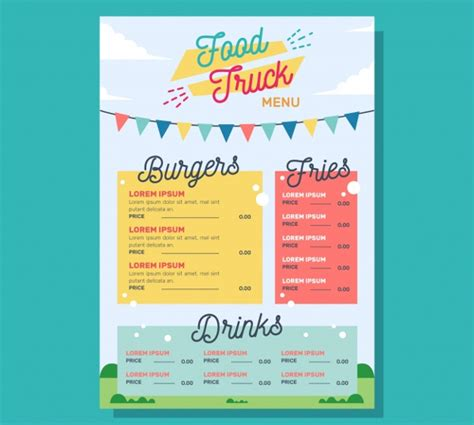 20 Food Truck Menu Templates Free Premium Psd Vector Downloads Food Truck Menu Template