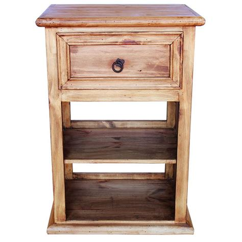 Rustic Pine Nightstand Rustic Pine Collection Oasis Nightstand W Shelf Bur60