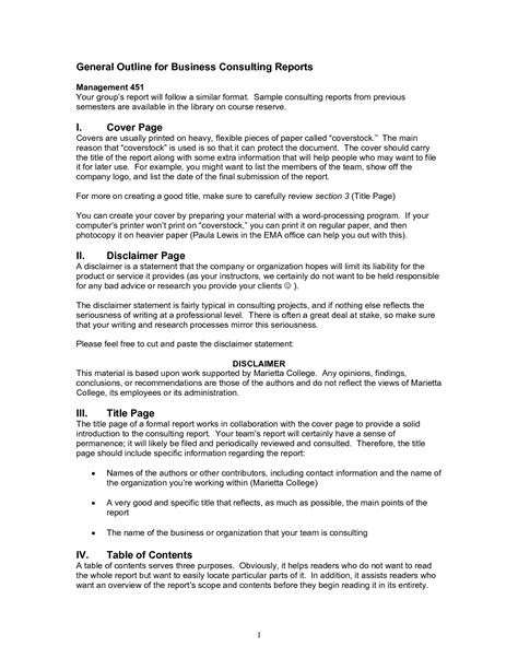 consultant report template sle consulting report format pictures to pin on
