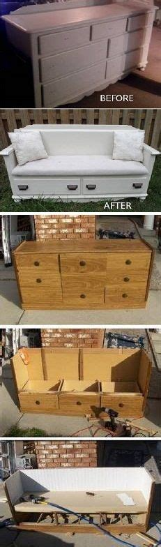 turn dresser into bench diy turn a dresser into a bench for the drawers and