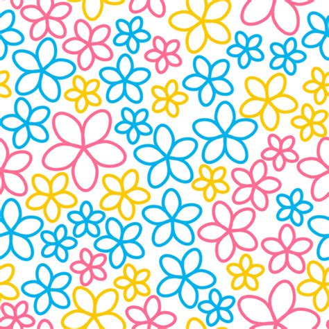 cute flowers seamless pattern vector 01 vector flower