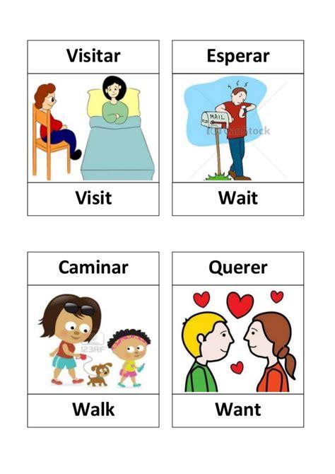 imagenes en ingles verbos verbos en ingles con dibujos