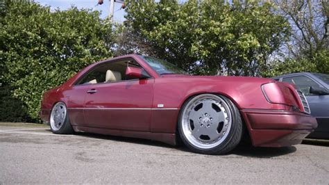 Red Barn Auto Stance Mercedes Benz W124 300ce Air Less Lowrider On Amg