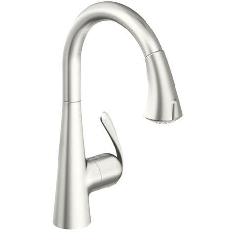 shop grohe eurodisc stainless steel 1 handle pull out grohe zedra single lever monobloc with pull out spray