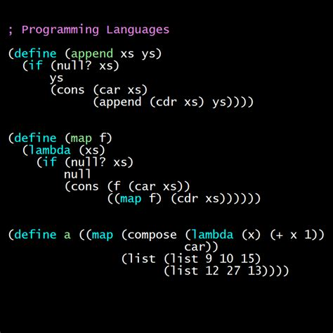 Programming Languages programming languages part b coursera