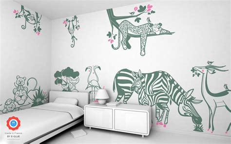 jungle wall stickers savanna wall decor  nursery