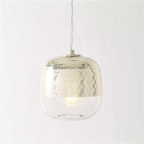 West Elm Pendant Light Metallic Honeycomb Glass Pendant West Elm