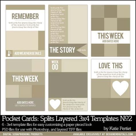 3x4 cards template pocket cards splits 3x4 layered templates no 02
