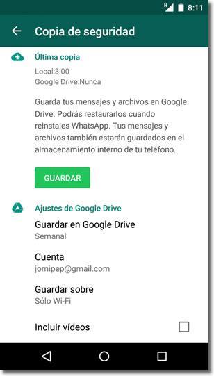 imagenes guardadas en google las copias de seguridad de whatsapp ahora tambi 233 n en
