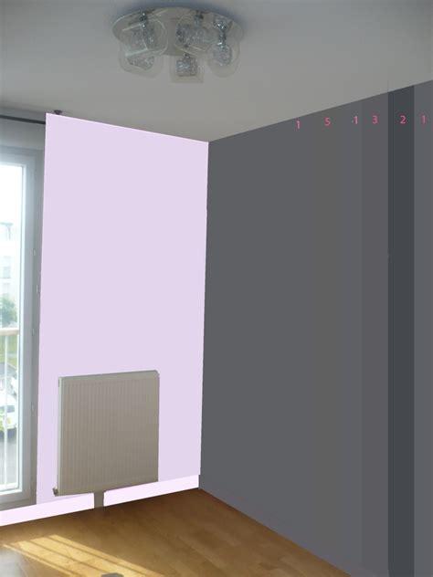 modèle chambre bébé fille chambre mauve et gris