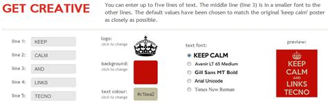 pagina para hacer imagenes keep calm links crear tu propio afiche de quot keep calm quot