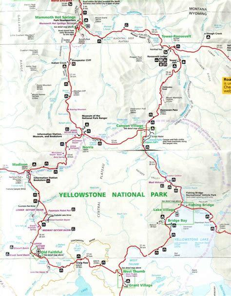 map usa yellowstone yellowstone national park map pdf images