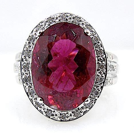 Tourmaline 7 5ct 6 5ct tourmaline and diamonds ring no reserve price