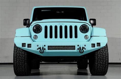 jeep wrangler   tiffany blue custom paint job