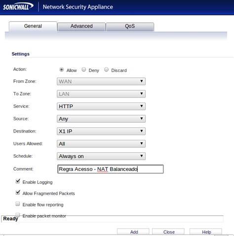 dell sonicwall visio publicando servidores balanceamento de carga