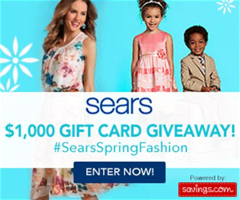 Sears Giveaway - sears giveaway 1 000 in gift cards spring fashion sale