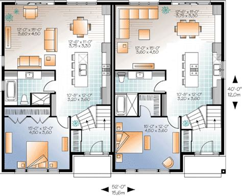 modern family dunphy house floor plan sleek modern multi family house plan 22330dr