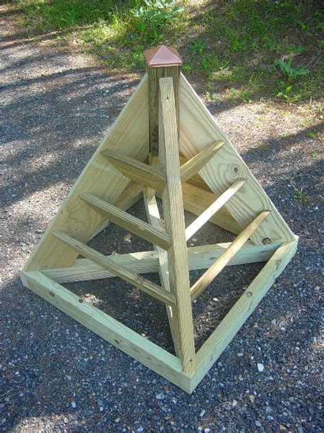 Wooden Pyramid Planter by Strawberry Planter Prices