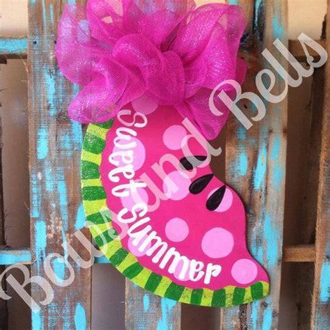 summer door hanger chevron door decor watermelon by 17 best images about paint parties on pinterest