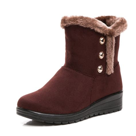 casual winter boots for casual suede snow boots toe mid calf winter