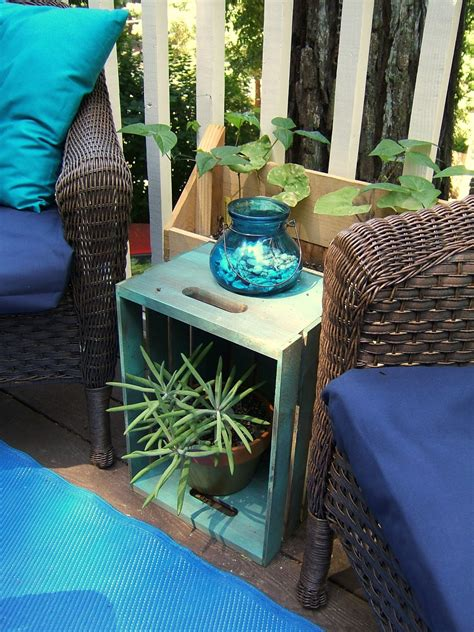 crate end table diy