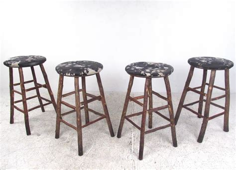 rustic hickory bar stools set of four vintage rustic bar stools by old hickory for