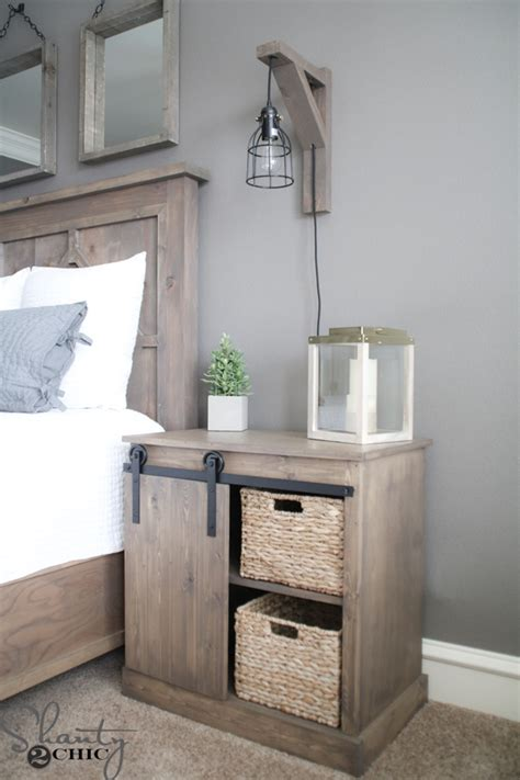 Farmhouse Kitchen Island Ideas Sliding Barn Door Nightstand Diy Shanty 2 Chic