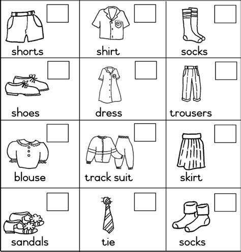 imagenes de ropa en ingles para colorear clothes en ingl 233 s imagui