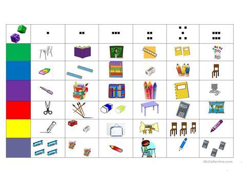 printable games classroom classroom objects worksheet free esl printable